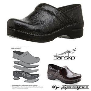 Dansko Black Textured Clogs